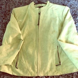 Beautiful green suede jacket